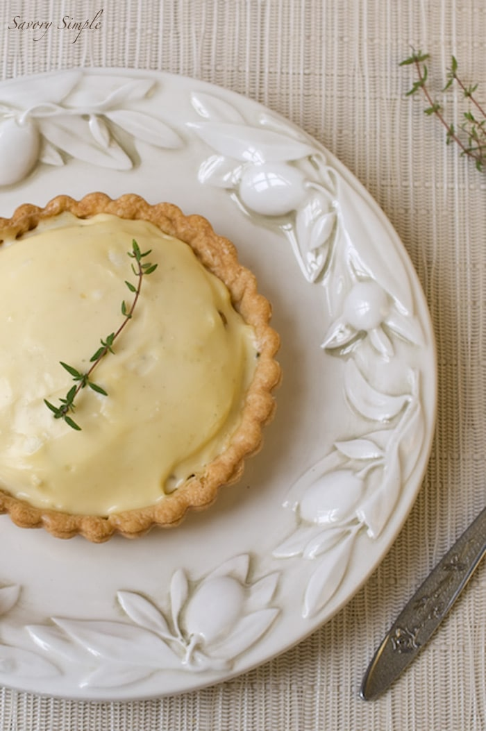 Pear and Blue Cheese Tart ~ Savory Simple