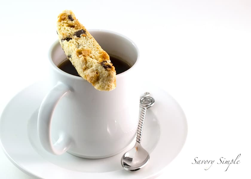 Chocolate Chip Butterscotch Biscotti ~ Savory Simple