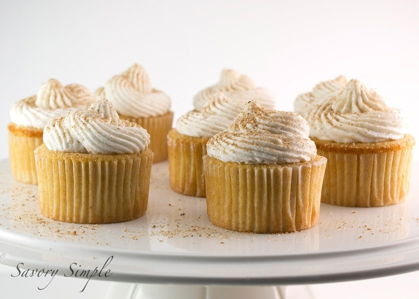 Eggnog Cupcakes with Rum Buttercream ~ Savory