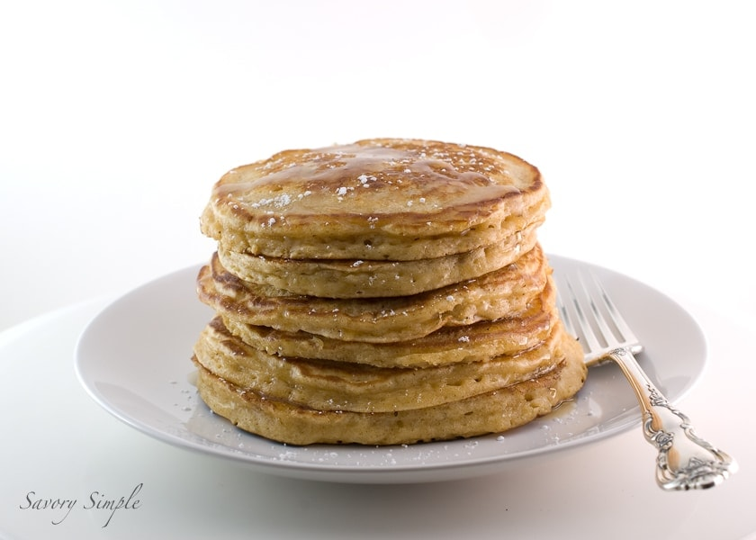 Eggnog Pancakes ~ Savory Simple