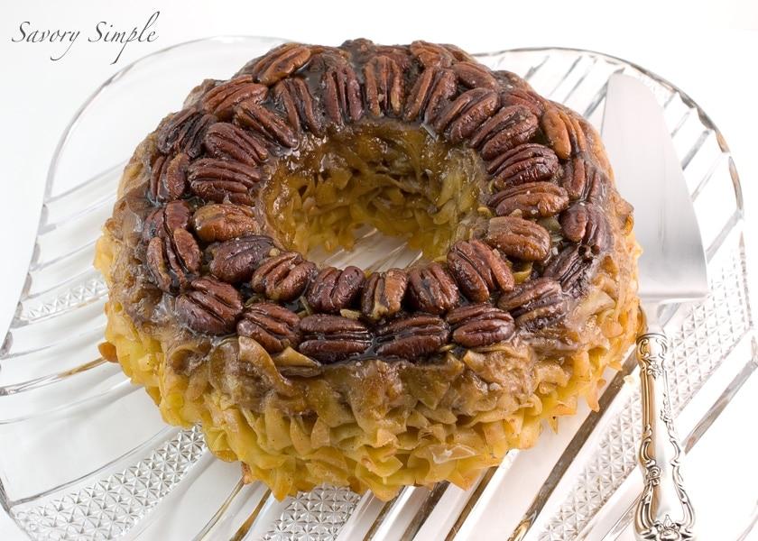 Sweet Pecan Kugel - Savory Simple
