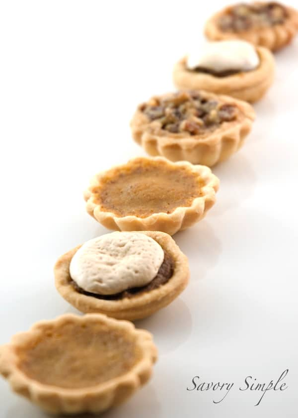 Thanksgiving Pie Petit Fours ~ Savory Simple