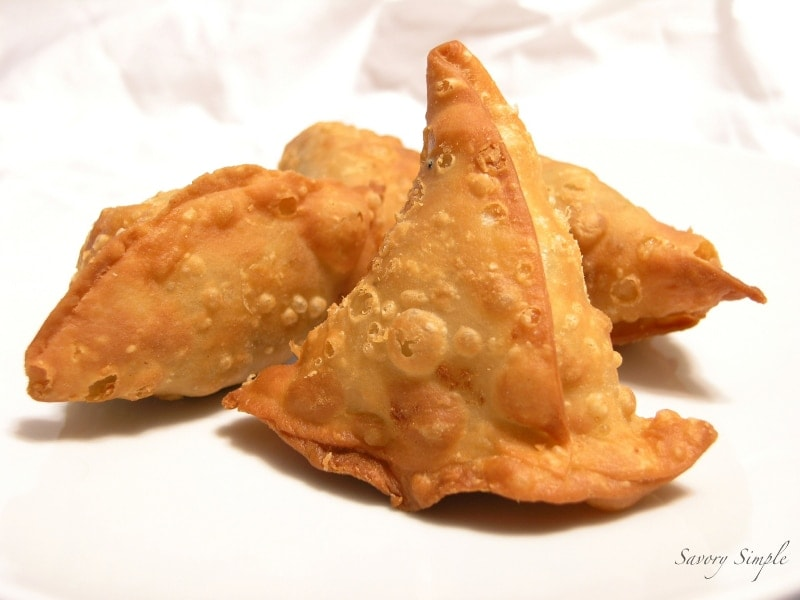 Vegetable and Lamb Samosas - Savory Simple
