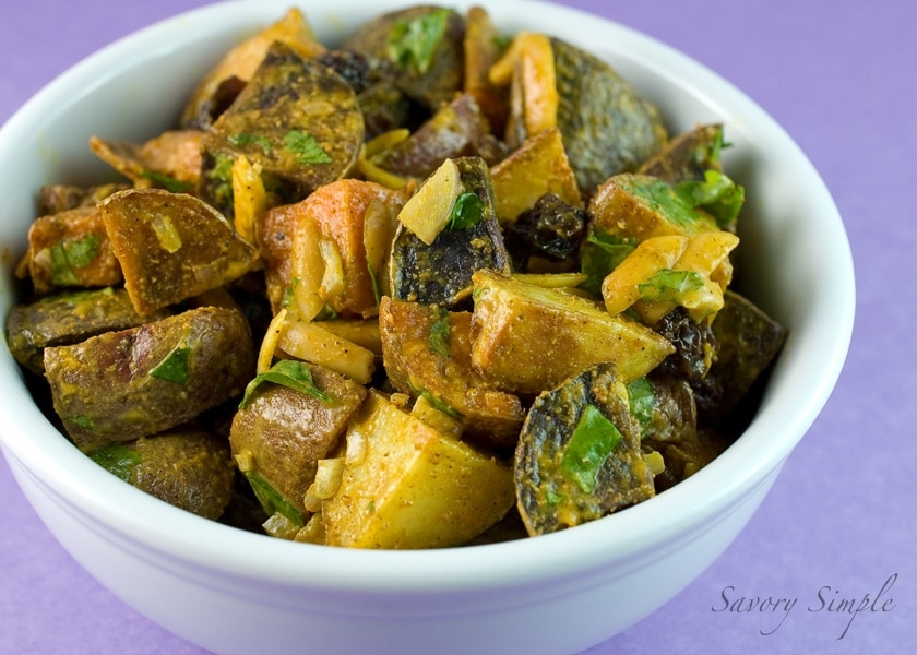 If you are a fan of Indian food, you'll love this Tri-Color Curried Potato Salad!