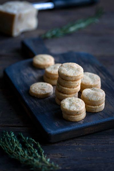 Parmesan shortbread crackers