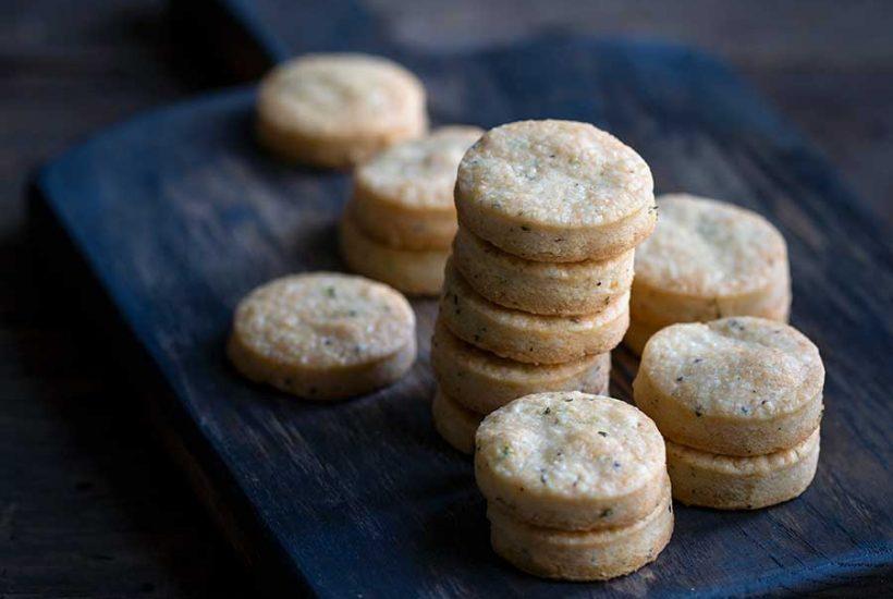 Parmesan shortbread crackers