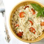 Orzo Caprese Salad ~ Savory Simple