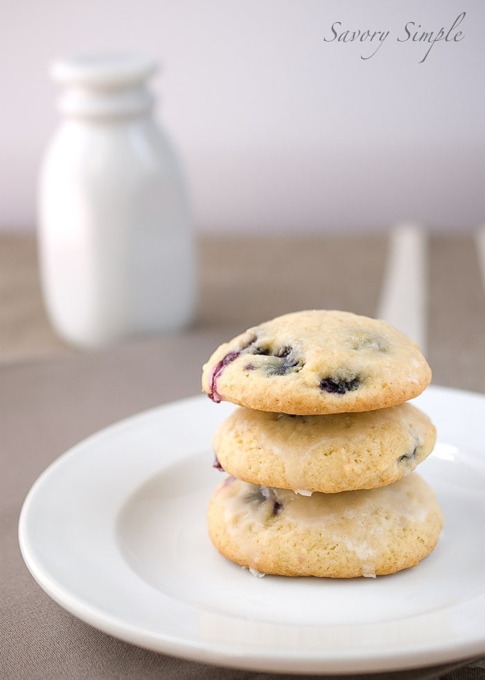 Blueberry Buttermilk Cookies ~ Savory Simple