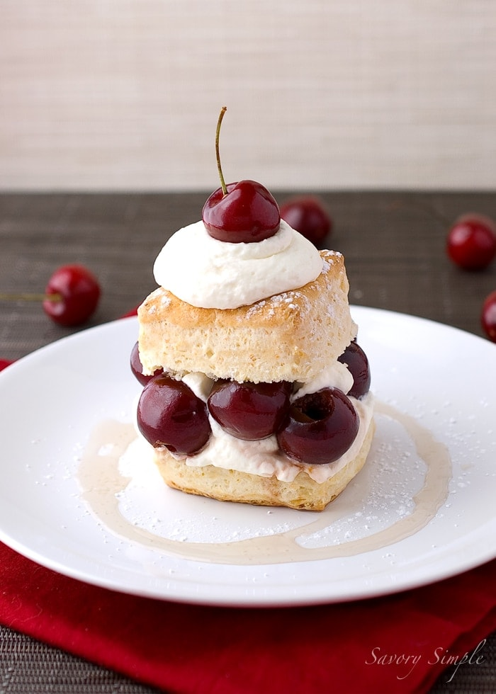 Drunken Cherry Shortcake ~ Savory Simple