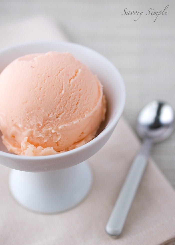 Grapefruit Curd Ice Cream ~ Savory Simple