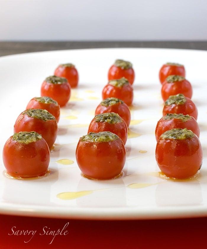 Pesto Tomato Bites ~ Savory Simple
