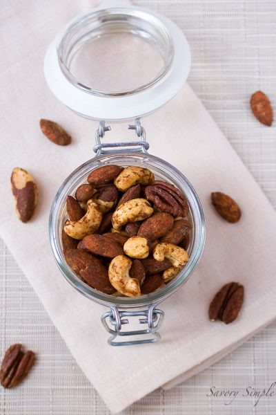 Pumpkin Spiced Cocktail Nuts ~ Savory Simple