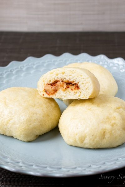 Steamed Kimchi Buns ~ Savory Simple