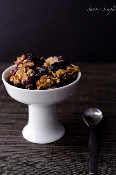 Blueberry Bourbon Crisp