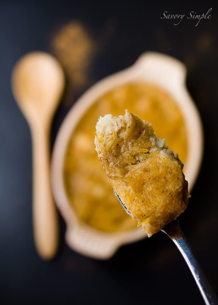 Pumpkin Bread Pudding ~ Savory Simple