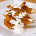 Baked Pumpkin with Garlic Yogurt Sauce ~ Savory Simple