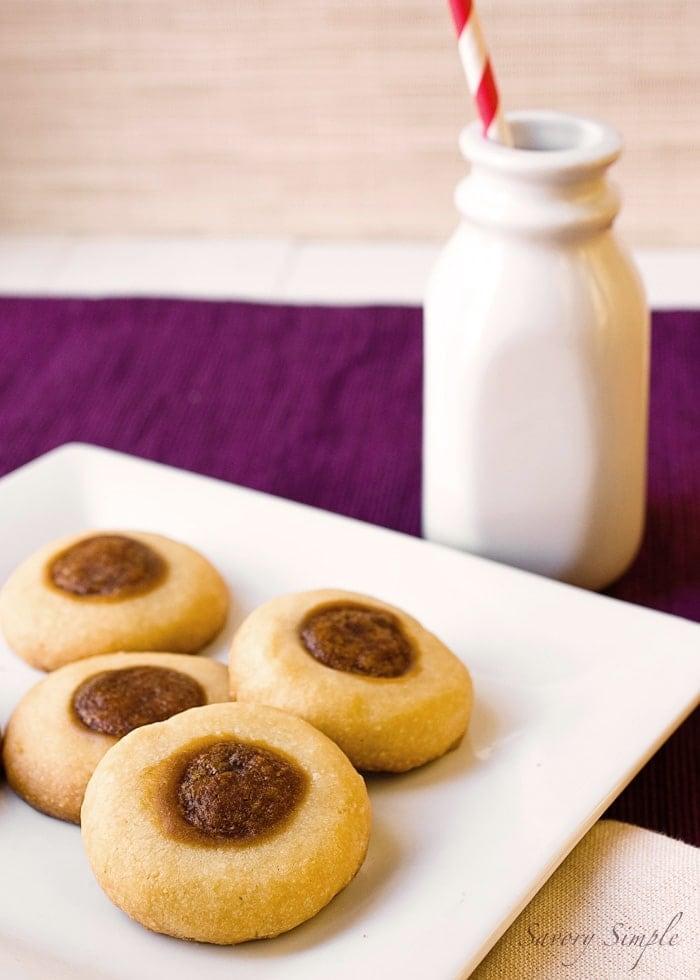 Biscoff Thumbprint Cookies ~ Savory Simple