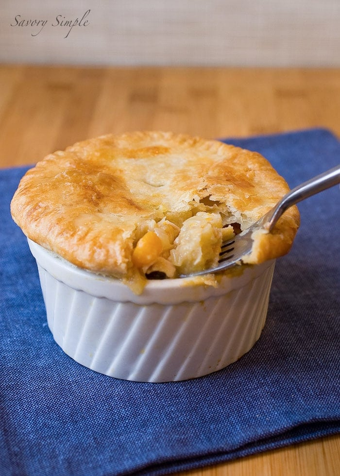 Chicken Pot Pie with Butternut Squash and Bacon ~ Savory Simple