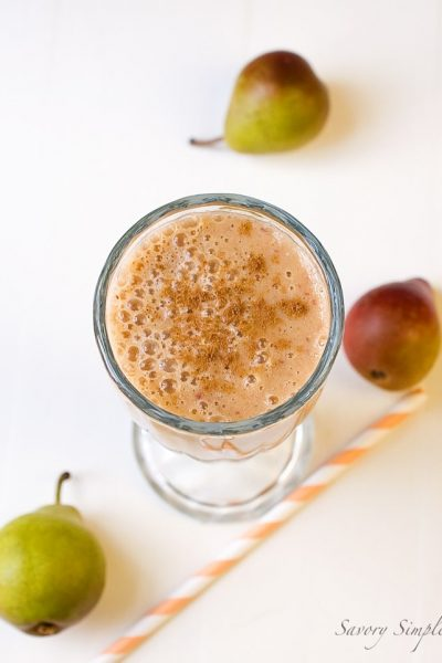 This Pumpkin Pie Smoothie is a quick and healthy drink that makes a wonderful breakfast or afternoon pick-me-up!