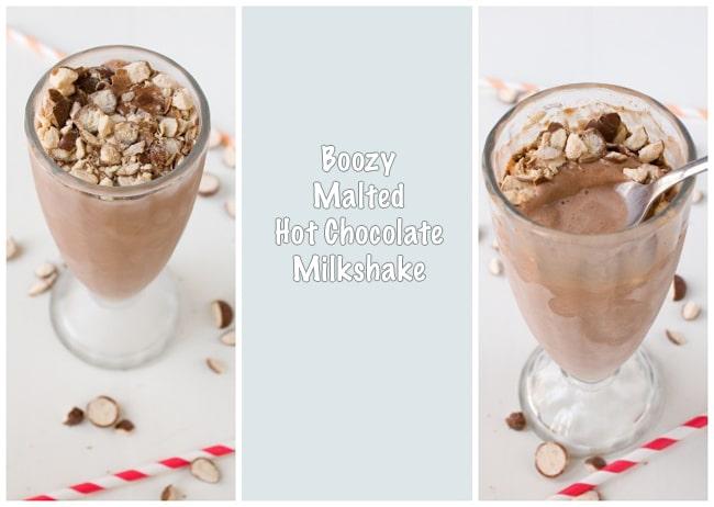 Boozy Malted Hot Chocolate Milkshake ~ Savory Simple