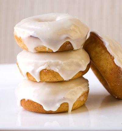 Baked Eggnog Doughnuts ~ Savory Simple