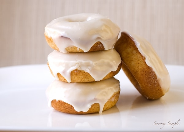 Baked Eggnog Doughnuts ~ Savory Simple