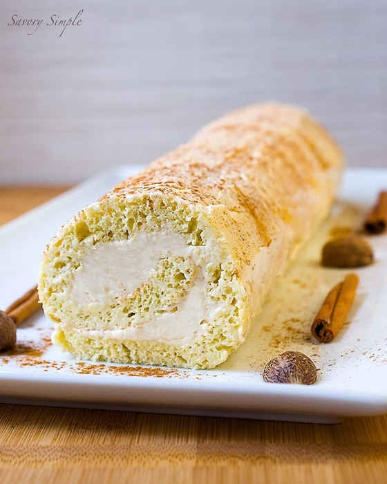 Eggnog Roulade with Rum Buttercream ~ Savory Simple