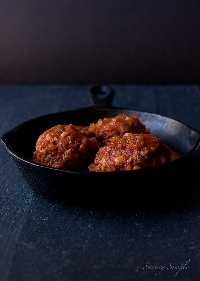 Slow Cooker Meatballs and Marinara ~ Savory Simple