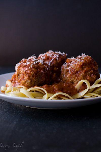 Slow Cooker Meatballs and Marinara ~ Savory Simple