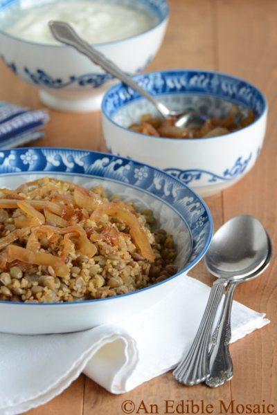 Lentil-and-Bulgur-Pilaf-with-Caramelized-Onion