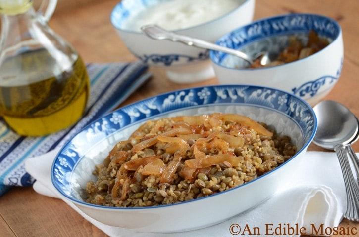 Lentil and Bulgur Pilaf with Caramelized Onion