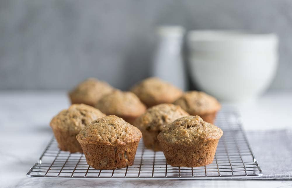A photo of banana bread muffins.