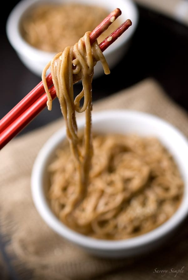 Cold Sesame Soba Noodles - Savory Simple