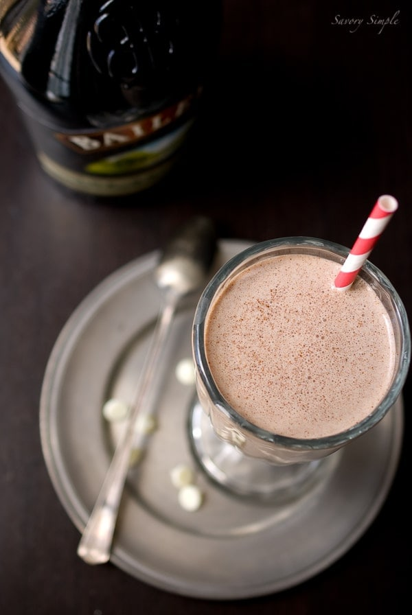 Nutella Irish Cream Milkshake - Savory Simple