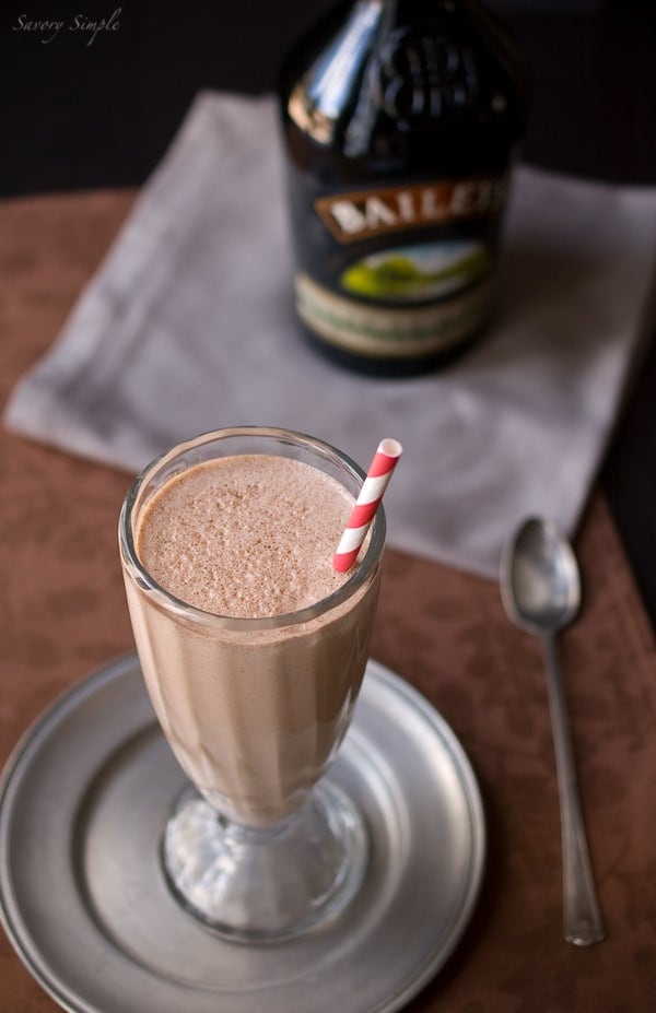Nutella Irish Cream Milkshake ~ Savory Simple ~ www.savorysimple.net