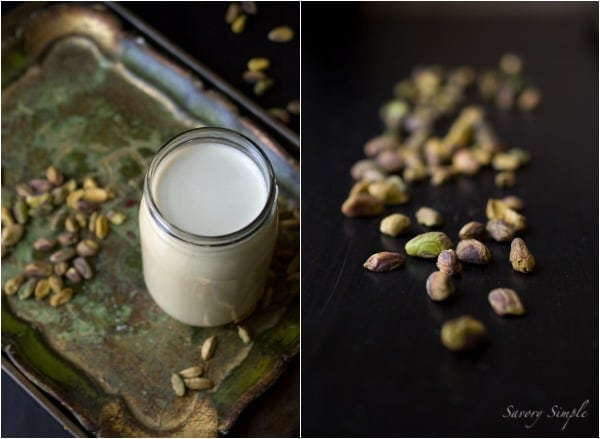 Pistachio Cardamom Hot Chocolate ~ www.savorysimple.net ~ Savory Simple #vegan #dairyfree