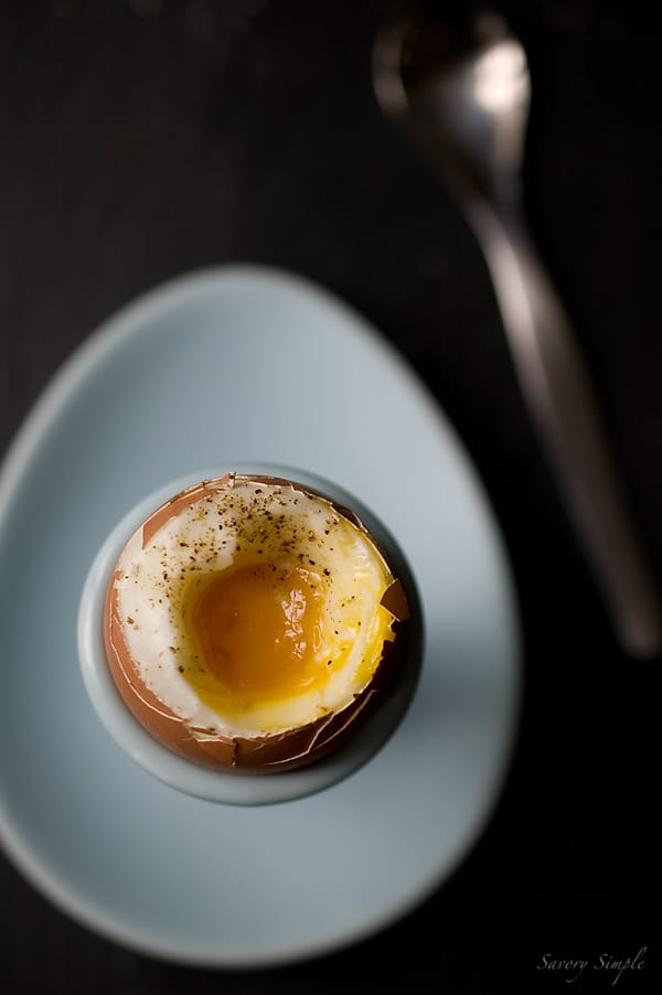 Perfect Soft-Boiled Eggs - Savory Simple