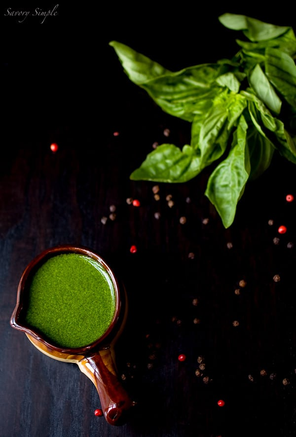 Basil Peppercorn Vinaigrette ~ Savory Simple ~ www.savorysimple.net