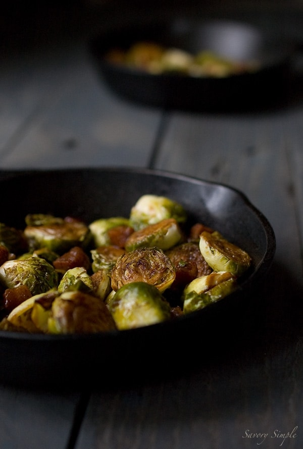 Brown Sugar Bacon Brussels Sprouts - Savory Simple - www.savorysimple.net