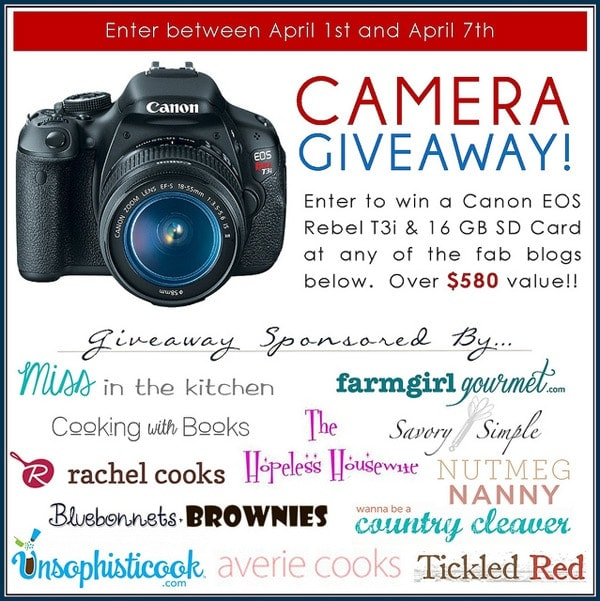 Canon EOS Rebel T3i Giveaway ~ Savory Simple ~ www.savorysimple.net