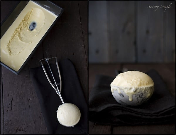Malted Condensed Milk Ice Cream ~ Savory Simple