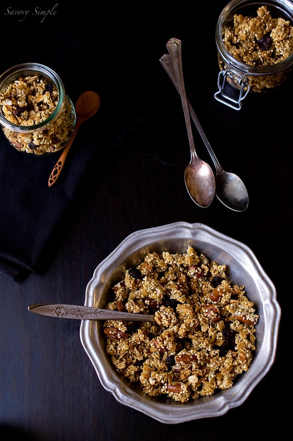 Quinoa Granola ~ Savory Simple ~ www.savorysimple.net