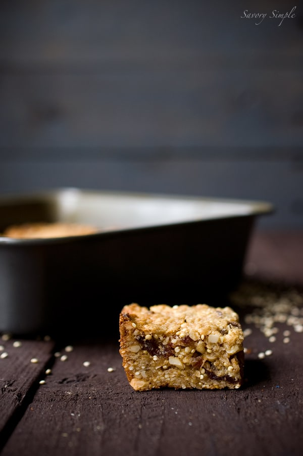 Quinoa Energy Bars ~ Savory Simple ~ www.savorysimple.net