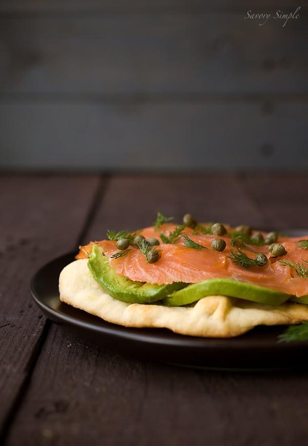 Smoked Salmon and Avocado Tartine ~ Savory Simple ~ www.savorysimple.net