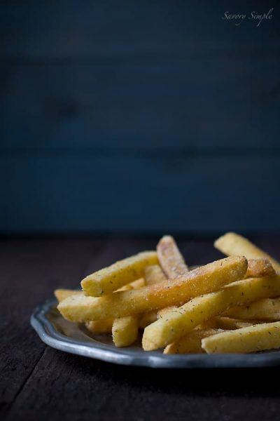 A photo of homemade ranch french fries