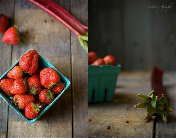 Strawberry Rhubarb Ice Cream & Sorbet ~ Savory Simple