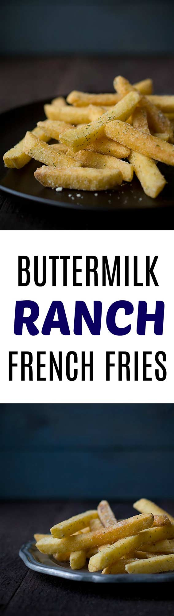 These buttermilk ranch french fries are a tasty side dish! If you love Cool Ranch Doritos, you NEED THEESE!