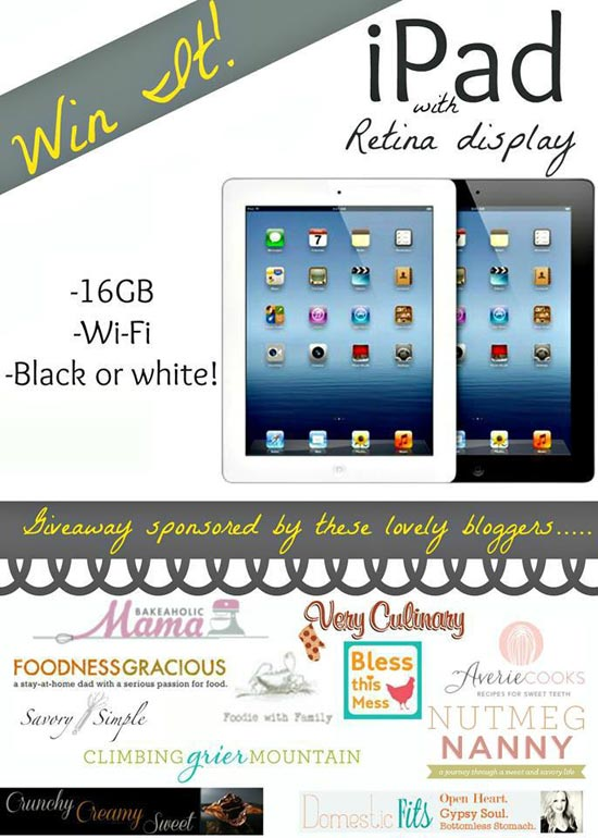 iPad Giveaway ~ Savory Simple