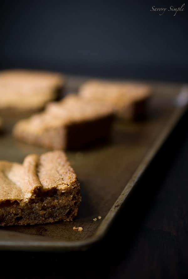 Brown Butter Vanilla Bean Blondies ~ Bar Desserts ~ Savory Simple