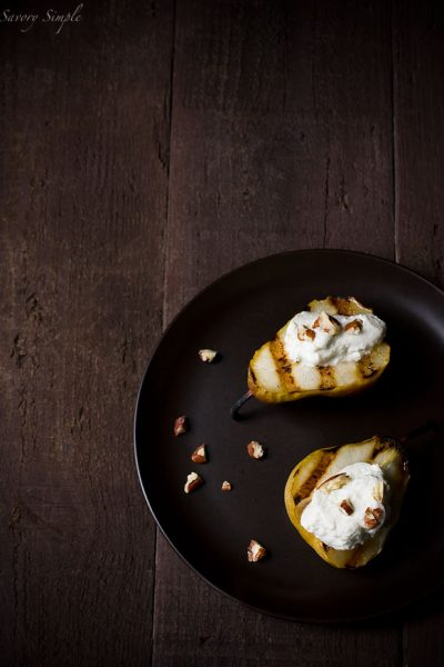 grilled-pears-with-roquefort-honey-cream